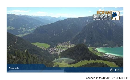 Maurach am Achensee webcam at lunchtime today
