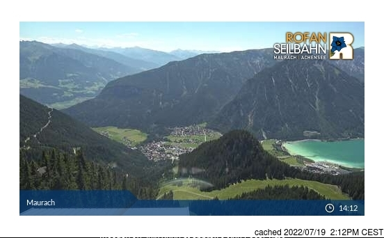 Maurach am Achensee webcam at 2pm yesterday