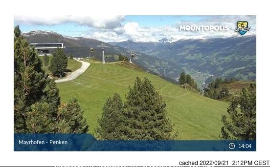 Mayrhofen webcam hoje à hora de almoço