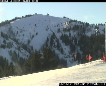 Megeve webcam at lunchtime today