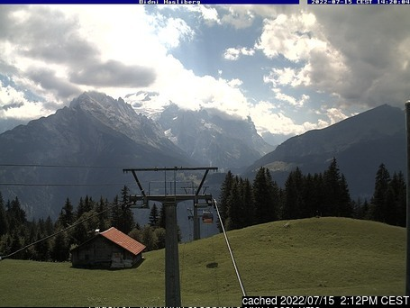 Webcam de Meiringen-Hasliberg a las doce hoy
