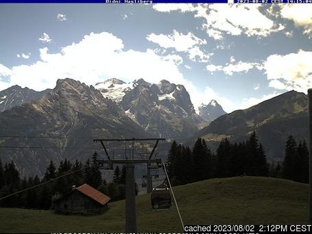 Meiringen-Hasliberg webcam om 2uur s'middags vandaag