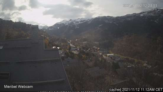Méribel webcam at lunchtime today