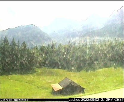 Mittenwald/Kranzberg webcam at lunchtime today