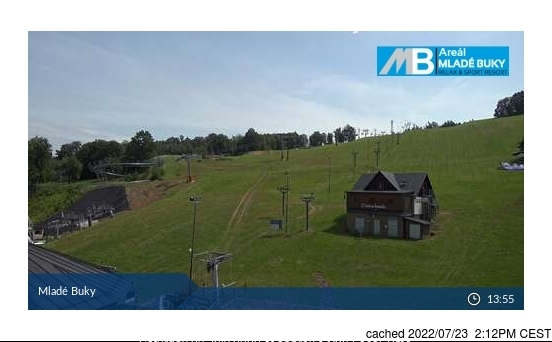 Mladé Buky webcam at lunchtime today