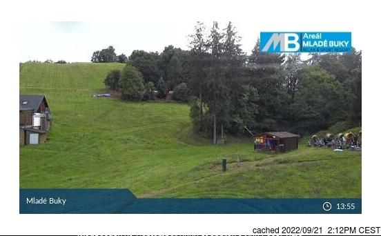Webcam de Mladé Buky à midi aujourd'hui