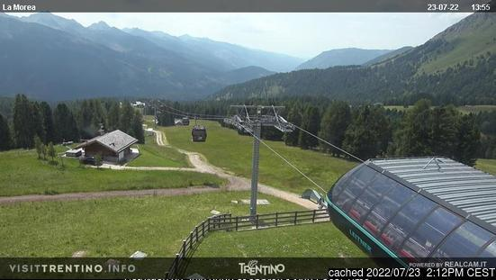 Moena webcam at 2pm yesterday