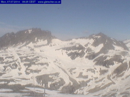 Mölltaler Gletscher webcam at lunchtime today