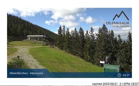 Mönichkirchen-Mariensee webcam at lunchtime today