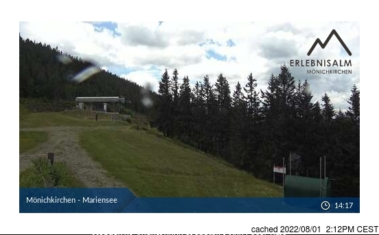Mönichkirchen-Mariensee webcam at 2pm yesterday