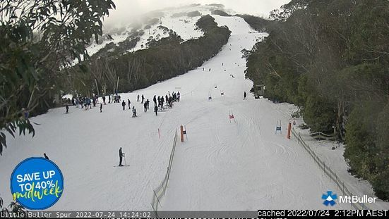 Mount Buller webcam at lunchtime today