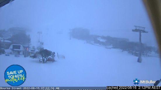 Mount Buller webkamera v době oběda
