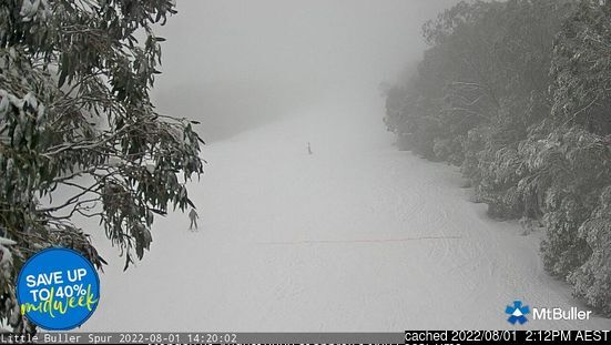 Mount Buller webcam at 2pm yesterday