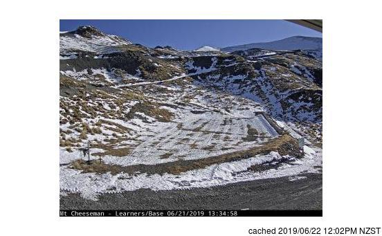 Mount Cheeseman webcam at lunchtime today