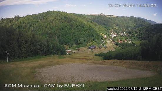 Mraznica - Hnilčík webcam at 2pm yesterday