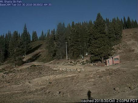 Bugün akşam yemeğinde Mt Shasta'deki webcam