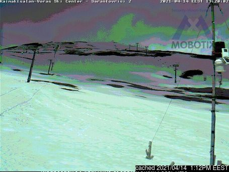 Mt Voras Kaimaktsalan webcam at 2pm yesterday