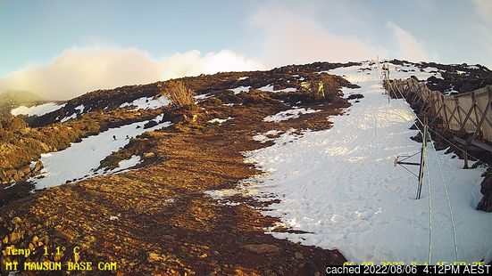 Live Snow webcam for Mt Mawson