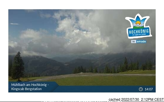 Muhlbach am Hochkonig webcam at 2pm yesterday