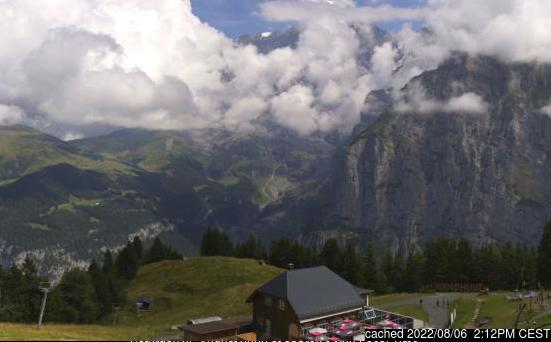 Mürren webcam at lunchtime today