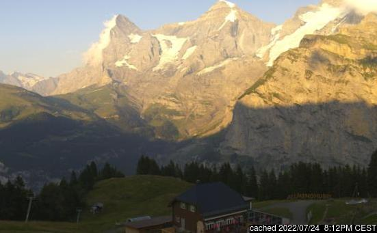 Live Snow webcam for Mürren