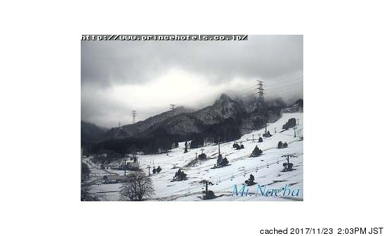 Naeba webcam at 2pm yesterday