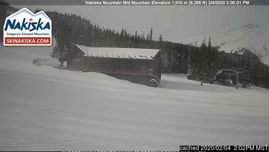Nakiska webcam at lunchtime today