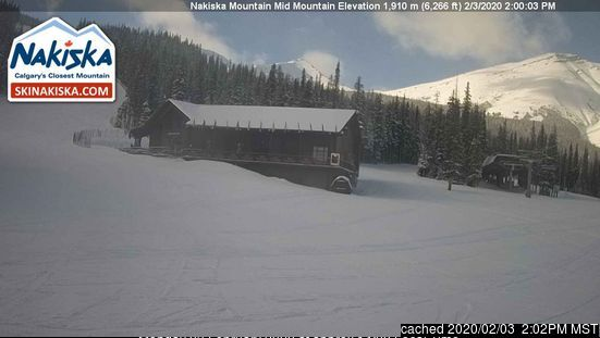Nakiska webcam at 2pm yesterday