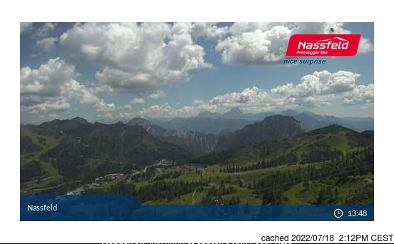 Nassfeld webcam at lunchtime today