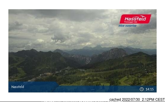 Nassfeld webcam at 2pm yesterday