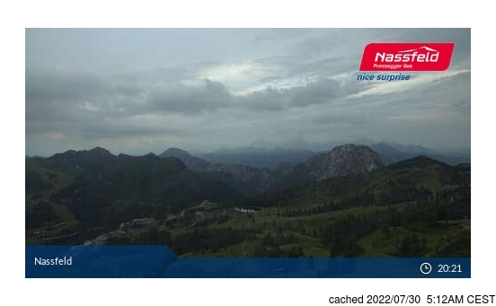 Live Snow webcam for Nassfeld