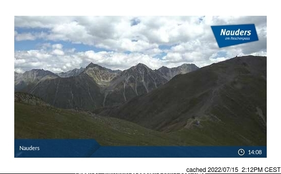 Nauders webcam at 2pm yesterday
