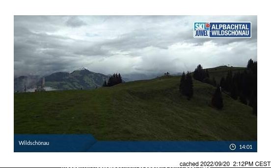 Niederau - Wildschonau webcam at 2pm yesterday