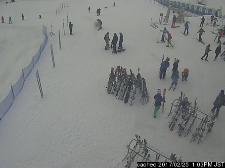 Niseko Hanazono Resort webcam at lunchtime today