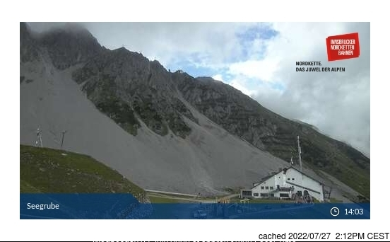 Nordkette webcam at lunchtime today