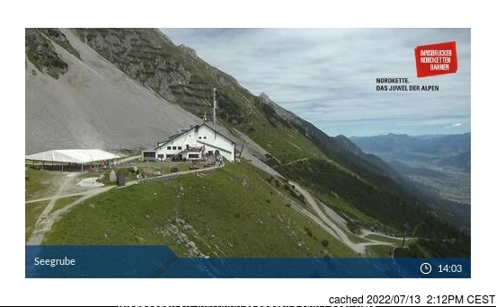 Nordkette webcam at 2pm yesterday
