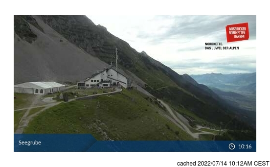 Live Snow webcam for Nordkette