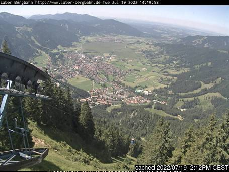 Oberammergau/Laber webcam heute beim Mittagessen