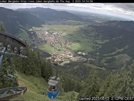 Webcam de Oberammergau/Laber a las 2 de la tarde hoy
