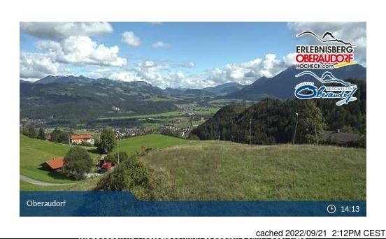 Oberaudorf webcam op lunchtijd vandaag