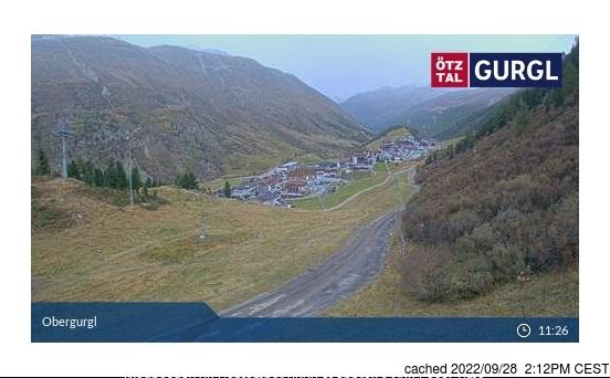 Webcam de Obergurgl a las 2 de la tarde hoy