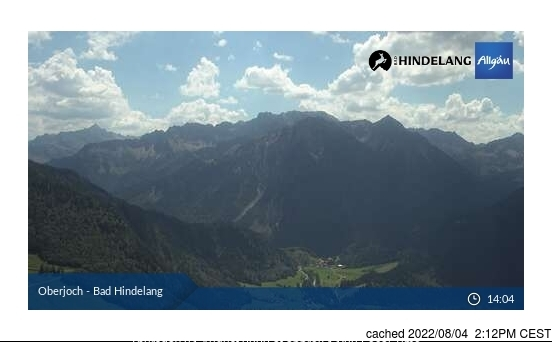 Oberjoch webcam at lunchtime today