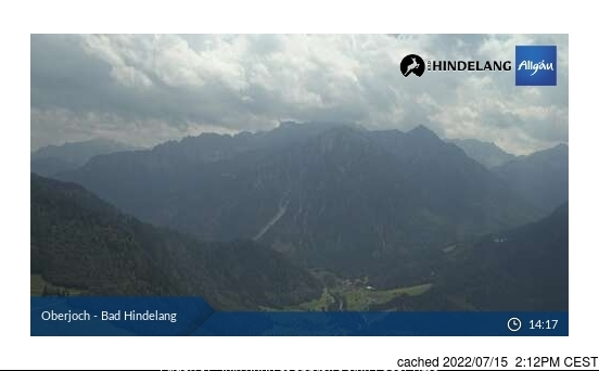 Oberjoch webcam at 2pm yesterday