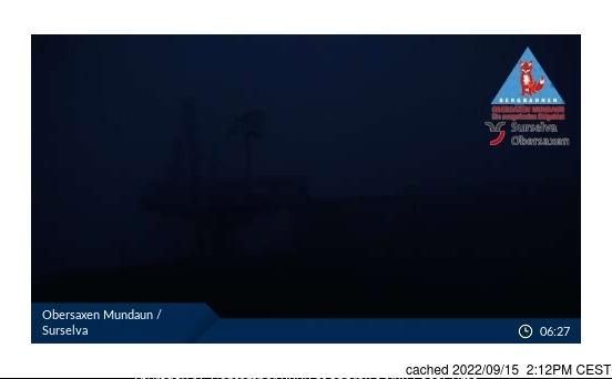 Obersaxen - Mundaun - Val Lumnezia webcam at 2pm yesterday