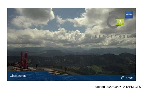 Oberstaufen webcam at lunchtime today