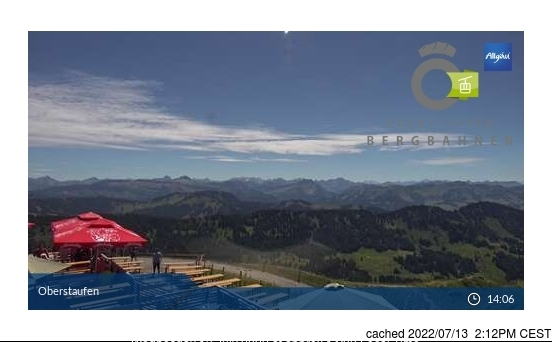 Webcam de Oberstaufen a las 2 de la tarde hoy