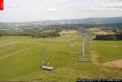 Obří sud - Javorník webcam at lunchtime today
