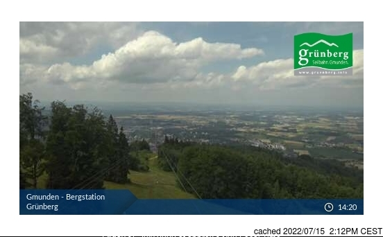 Obsteig/Grünberg webcam at 2pm yesterday