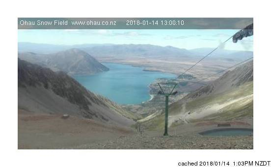 Ohau webcam at lunchtime today
