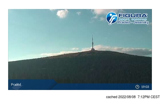 Live Snow webcam for Praděd - Ovčárna
